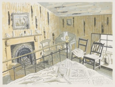Picture of Pitmedden Farmhouse, Bedroom by Donald Addison