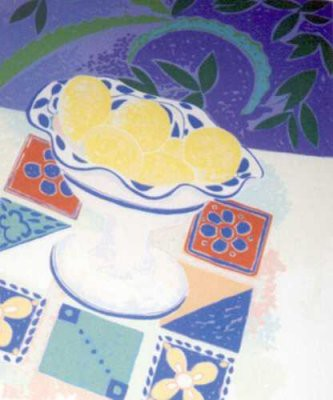 Picture of Bowl with Lemons by Alison Harley