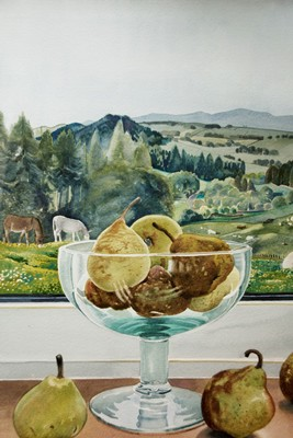 Picture of Evening Landscape with Pears by Freda Blackwood