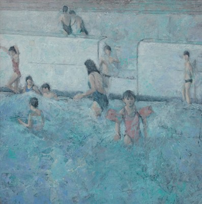 Picture of Children on Poolside by Damian Callan