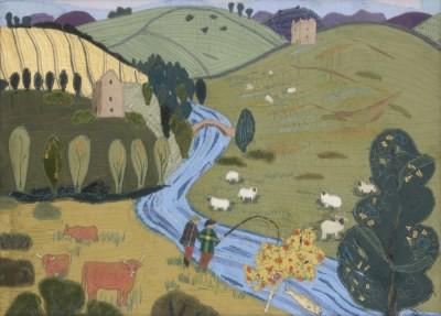 Picture of Scottish Landscape by Jessie Ann Matthew