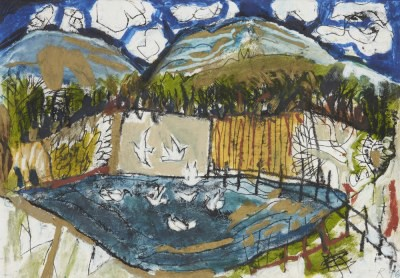 Picture of Flood and Birds by Rosey Priestman