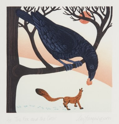 Picture of The Fox and the Crow by Linda M. Farquarson