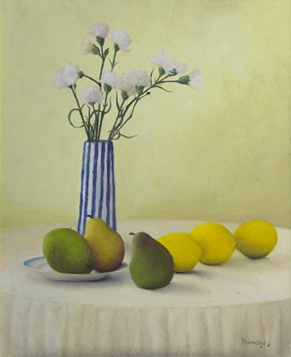 Picture of White Carnations and Fruit by Miranda Macrae
