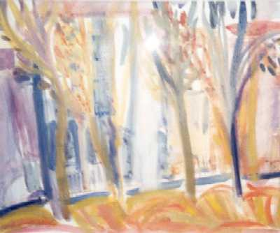 Picture of Yellow Trees by Deirdre Edwards