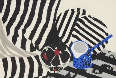 Picture of Stripe Still Life by Pauline Burbidge