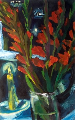 Picture of Still Life With Gladioli by Sarah Leonard