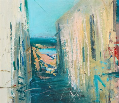 Picture of Down to the Sea, Lindos by Chris Bushe
