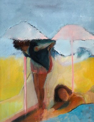 Picture of Pink Umbrellas by Maria Henighen