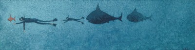 Picture of Sharks in Pursuit of Divers by Susan Calder