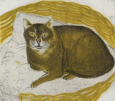 Picture of Cat by Elizabeth Blackadder