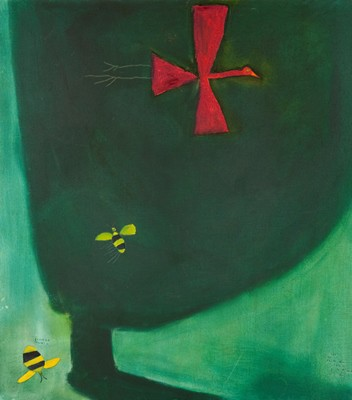 Picture of Zoom Bird and Bees by Pat Douthwaite