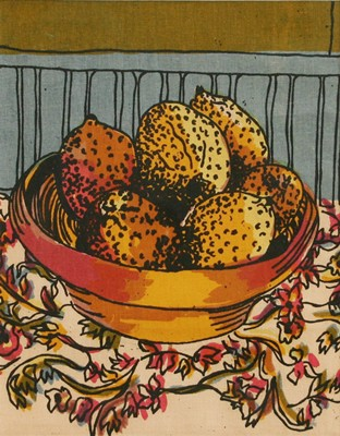 Picture of Lemons on the Table by Lesley Thomson