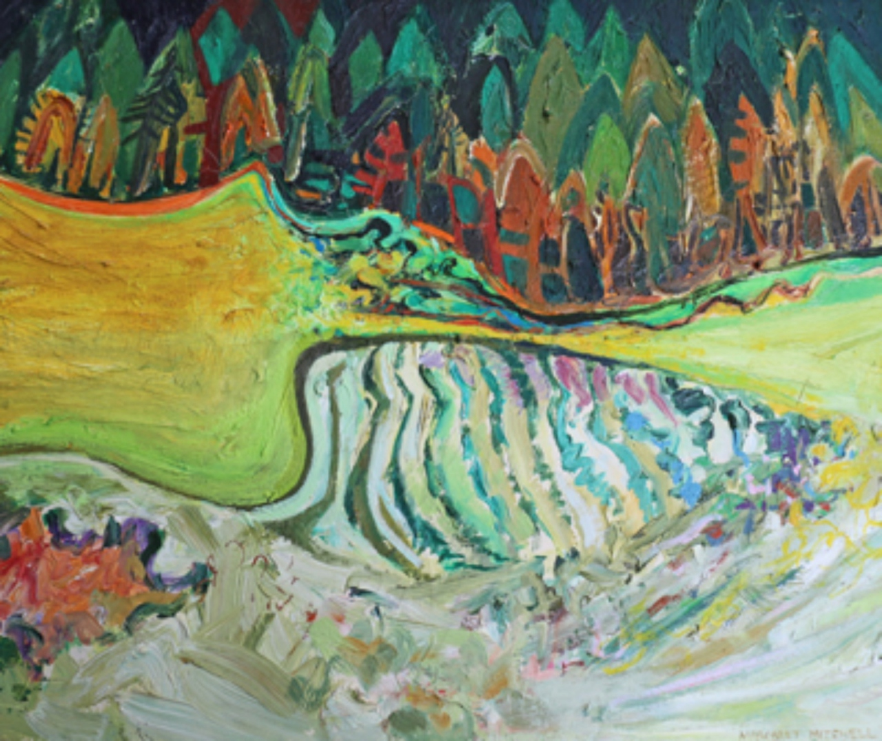 Picture of Stripey Lednathie Landscape by Margaret Mitchell