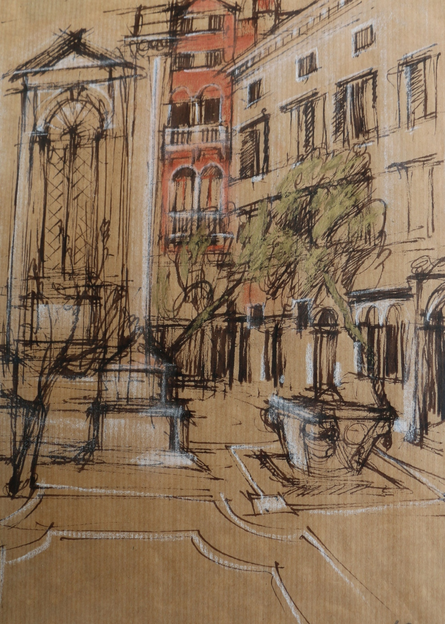 Picture of Venice Street with Font by Marjorie I Campbell